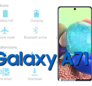 Samsung Galaxy A71 Status Bar icons Meaning