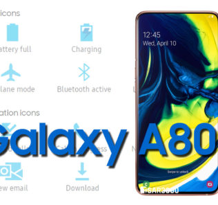 Samsung Galaxy A80 Status Bar icons Meaning