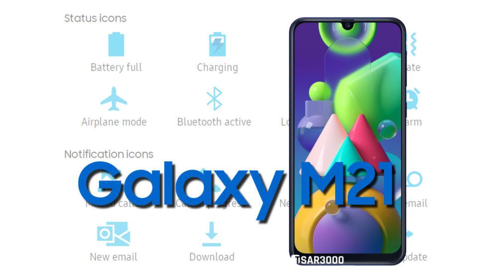 Samsung Galaxy M21 Status Bar icons Meaning