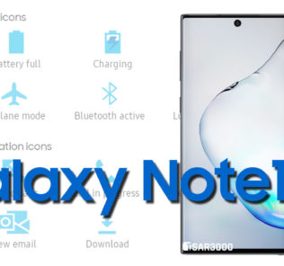 Samsung Galaxy Note10 Status Bar icons Meaning
