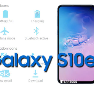 Samsung Galaxy S10e Status Bar icons Meaning