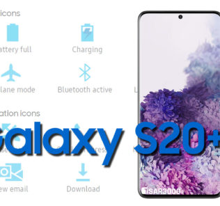 Samsung Galaxy S20 Plus Status Bar icons Meaning