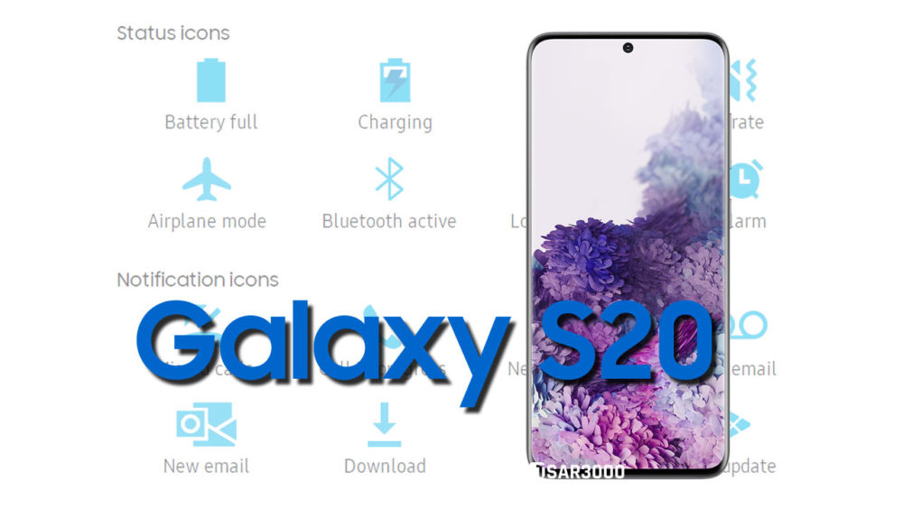 Samsung Galaxy S20 Status Bar icons Meaning