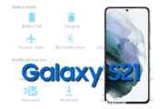 Samsung Galaxy S21 5G Status Bar icons Meaning