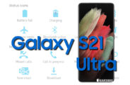 Samsung Galaxy S21 Ultra 5G Status Bar icons Meaning