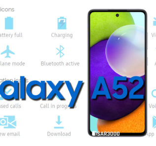 Samsung Galaxy A52 4G Status Bar Icons Meaning