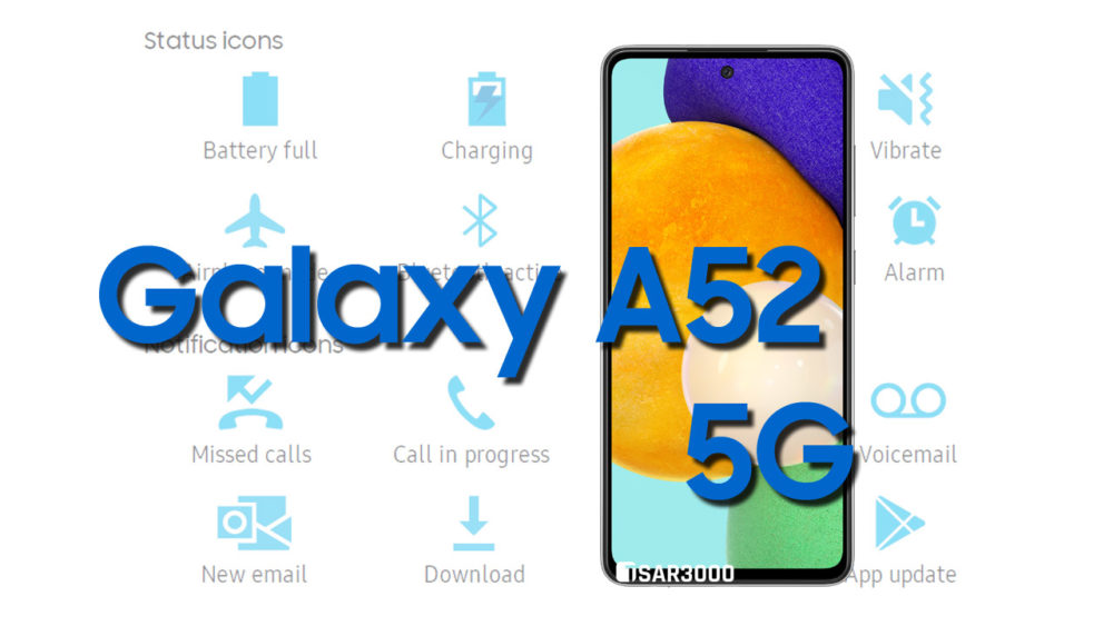 Samsung Galaxy A52 5G Status Bar Icons Meaning