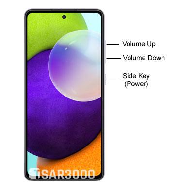 Samsung Galaxy A52 Layout