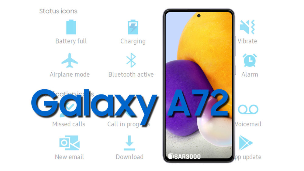 Samsung Galaxy A72 Status Bar icons Meaning