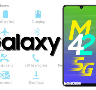 Samsung Galaxy M42 5G Status Bar Icons Meanings