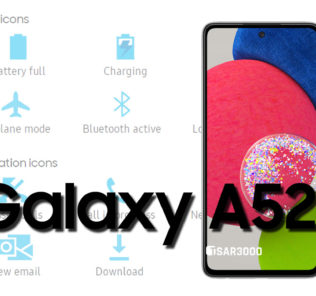 Samsung Galaxy A52s 5G Status Bar icons Meaning