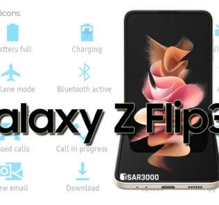 Samsung Galaxy Z Flip3 5G Status Bar Icons Meaning