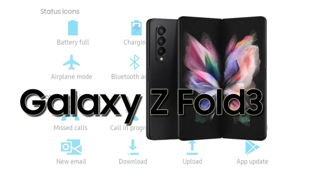 Samsung Galaxy Z Fold3 5G Status Bar Icons Meaning