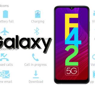 Samsung Galaxy F42 5G Status Bar Icons Meaning