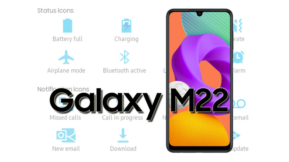 Samsung Galaxy M22 Status Icons Meaning