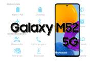 Samsung Galaxy M52 5G Status Bar Icons Meaning